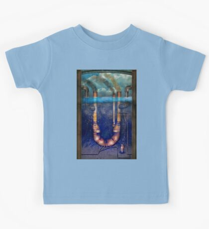 Steampunk - Alphabet - U is for Underwater Utopia Kids Tee