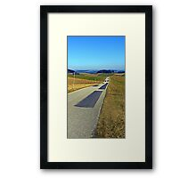 Country road into nothing particular | landscape photography Framed Print