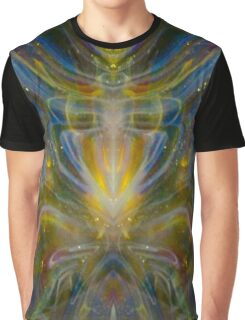Yellow Glow Rainbow Psychedelic  Graphic T-Shirt
