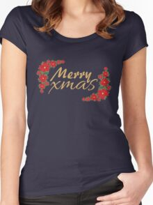 Xmas field Women's Fitted Scoop T-Shirt