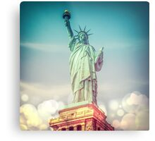 Vintage photograph of the Statue of Liberty Metal Print