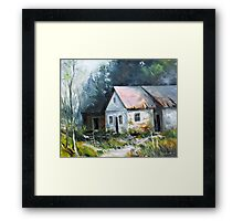 Abandoned farm house Framed Print