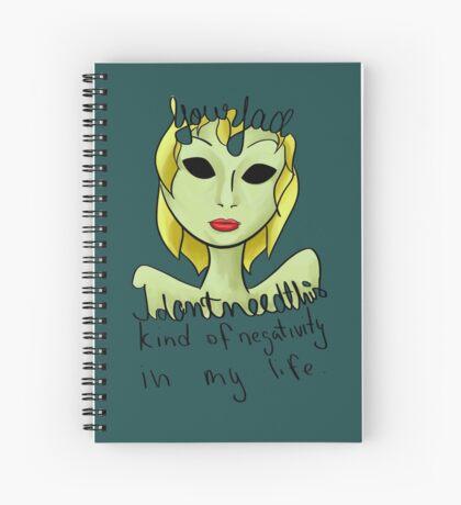 Negativity.  Spiral Notebook