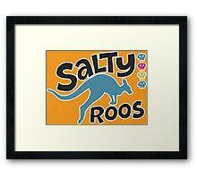 Team Salty Roos Framed Print