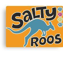Team Salty Roos Canvas Print