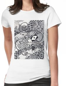 The Monkey with the Very Long Tail Womens Fitted T-Shirt