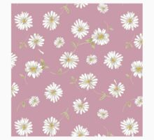 Spoon flowers,white,green,on pink background, modern,trendy,girly Baby Tee