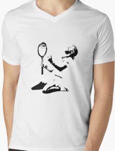 Björn Borg _ black&white Mens V-Neck T-Shirt