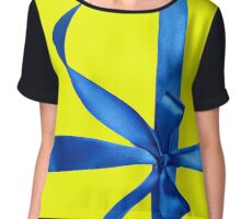 With a Bow Chiffon Top