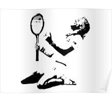 Björn Borg _ black&white Poster
