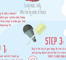 How to Sing in the Shower Sticker