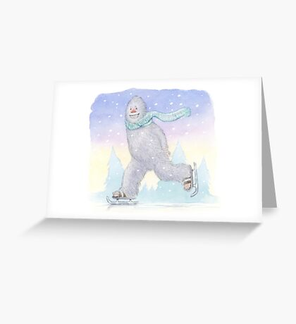 Is It Christmas Yeti Greeting Card