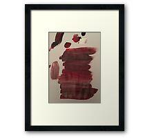Merging Paint Framed Print