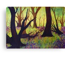 Bluebell Woods Ink Sketch Canvas Print