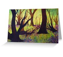 Bluebell Woods Ink Sketch Greeting Card
