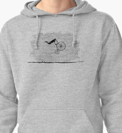 Penny Farthing Superman by Decibel Clothing Pullover Hoodie