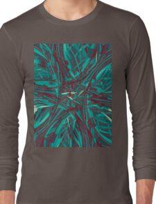 Digital Ocean Mandala Long Sleeve T-Shirt