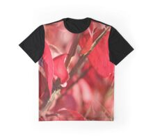 Red Fall Graphic T-Shirt