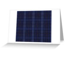 A Mystic Wit Complimentary Blue Plaid Greeting Card