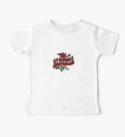 Alberta Wild Rose Vintage Travel Decal Baby Tee