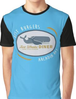 Two Whales Diner Shirt Graphic T-Shirt