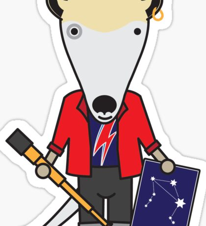 Alan the Astronomer Anteater Sticker