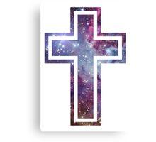 Nebula Cross Canvas Print