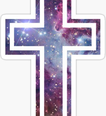 Nebula Cross Sticker