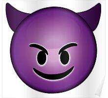 Devil Emoji Poster