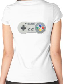 SNES Controller Women's Fitted Scoop T-Shirt