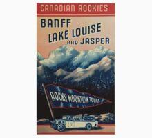 Banff Jasper Lake Louise Vintage Travel Decal Baby Tee