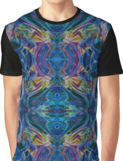 Teal Psychedelic Peacock Abstract Graphic T-Shirt