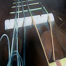 Guitar Neck with Strings by Holly Daniels