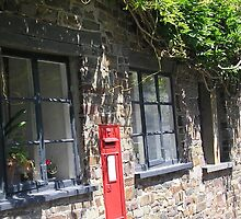 Country Post Box by paintedwords