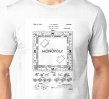 Monopoly Game Patent Drawing Design  Unisex T-Shirt