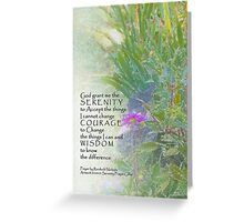 Serenity Prayer Late Summer Garden 2 Greeting Card