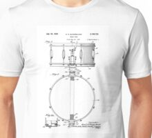 Snare Drum by H.H. Slingerland Circa 1937 Patent Drawing Design Unisex T-Shirt