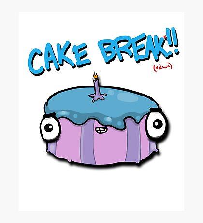 CAKE BREAK (down) Photographic Print