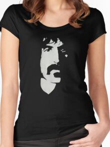 Frank Zappa Silhouette (No Text) Women's Fitted Scoop T-Shirt