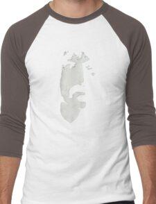 Frank Zappa Silhouette (No Text) Men's Baseball ¾ T-Shirt