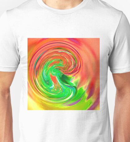 pink green purple and yellow drop of water Unisex T-Shirt