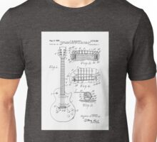 Gibson Les Paul Guitar Designed by Theodore McCarty Patent Drawing Circa 1953 Unisex T-Shirt