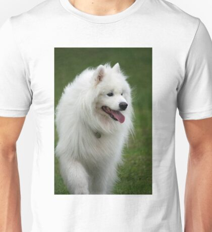 samoyed walking Unisex T-Shirt