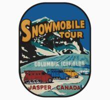Jasper Snowmobile National Park Vintage Decal One Piece - Short Sleeve