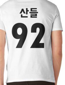 B1A4 Sandeul Black Jersey Style Mens V-Neck T-Shirt