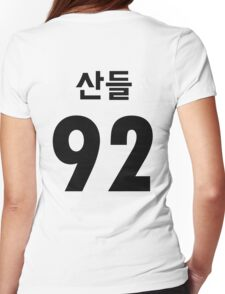 B1A4 Sandeul Black Jersey Style Womens Fitted T-Shirt