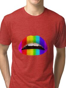 Prideful lips Tri-blend T-Shirt