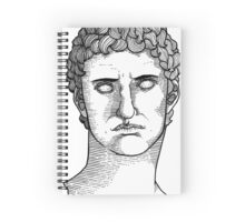 Topographical Portrait of Augustus Caesar (in black) Spiral Notebook