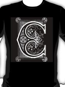 Old print ornament letter E T-Shirt