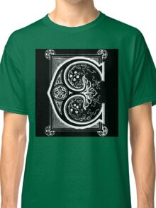 Old print ornament letter E Classic T-Shirt